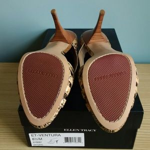 Ellen Tracy Shoes - Ellen Tracy VENTURA leather heels Natural 8.5M